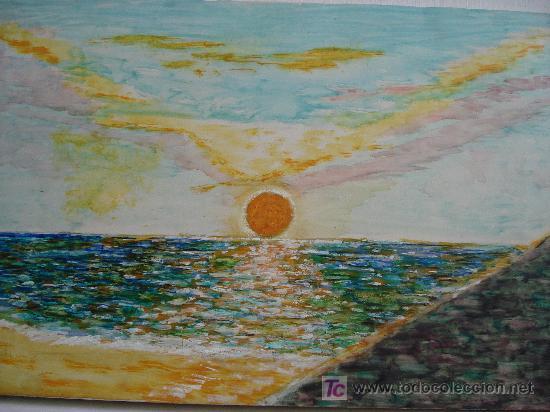 PUESTA DE SOL (Arte - Acuarelas - Contemporáneas siglo XX)