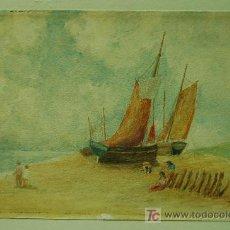 Arte: ANTIGUA E INTERESANTE ACUARELA FIRMADA Y FECHADA EN 1931. Lote 15611135