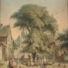 Arte: JAKOB FÚRCHTEGOTT DIELMANN ( 1809-1885),ACUARELA SOBRE PAPEL. Lote 26526987