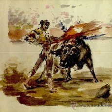Arte: AA004-ACUARELA DE ANTONIO CASERO, FIRMADA Y DEDICADA, DEL AÑO 1952. Lote 26308736