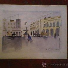 Arte: ACUARELA FIRMADA EDUARDO AÑOS 80 ORIGINAL. Lote 26469484