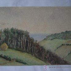Arte: 'PAISAJE' ACUARELA INGLESA SIGLO XIX-XX. Lote 26957028