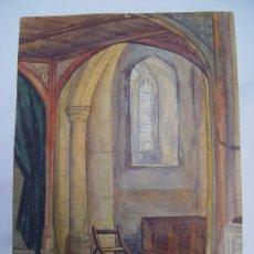 Arte: 'INTERIOR CATEDRAL ACUARELA DE LA ESCUELA INGLESA DEL SIGLO XIX-XX... Lote 27114369