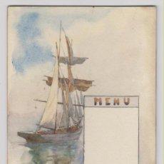 Arte: 'BARCA' ACUARELA DEL SIGLO XIX-XX. Lote 27249729