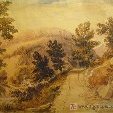 Arte: PRECIOSO PAISAJE (ACUARELA) CON GRAN PERSPECTIVA, ESCUELA INGLESA SIGLO XIX, (CIRCA 1840) CALIDAD. Lote 17575298