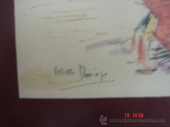 Arte: DETALLE DE LA FIRMA -ROBERTO DOMINGO- - Foto 4 - 26874512