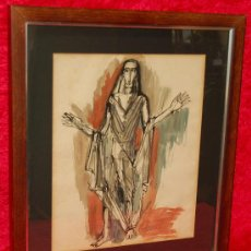 Arte: CHARLES COLLET, ACUARELA DEL AÑO 53 (PERSONAJE). Lote 22440311