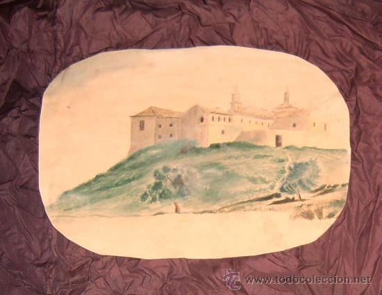 ANTIGUA PINTURA A ACUARELA Y A PLUMILLA SIGLO XIX (Arte - Acuarelas - Modernas siglo XIX)