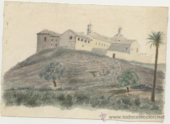 Arte: Antigua Pintura a Acuarela y a Plumilla Siglo XIX - Foto 2 - 25659905