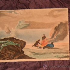 Arte: ANTIGUA PINTURA A ACUARELA Y A PLUMILLA SIGLO XIX (10 AGOSTO 1886)~FIRMADO~GASTOS ENVÍO INCLUÍDOS. Lote 23623028