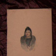 Arte: ANTIGUA PINTURA A ACUARELA Y PLUMILLA ~ SIGLO XIX. Lote 25738821