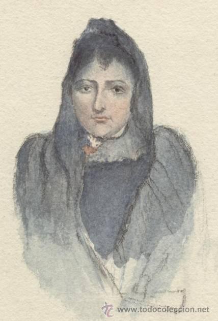 Arte: Antigua Pintura a Acuarela y Plumilla ~ Siglo XIX - Foto 2 - 25738821