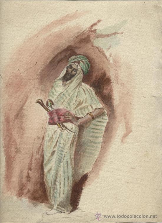 Arte: Antigua Pintura a Acuarela y Plumilla ~ Siglo XIX - Foto 2 - 25551951