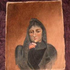 Arte: ANTIGUA PINTURA A ACUARELA Y PLUMILLA ~ SIGLO XIX ~ FIRMADO CON DOS INICIALES. Lote 25738823
