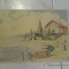 Arte: ACUARELA ANTIGUA FIRMADA M.A.F.. Lote 19218380