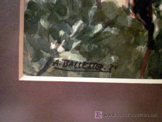 Arte: Acuarela sobre papel Firmada A. Ballester 8V - Foto 4 - 19263522