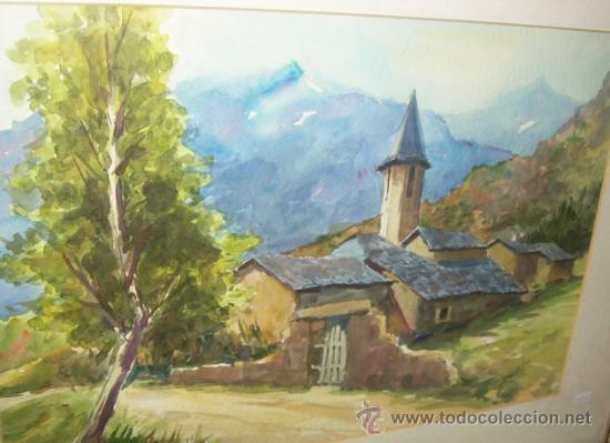 Arte: ACUARELA PAISAJE, FIRMADA - Foto 2 - 25000398