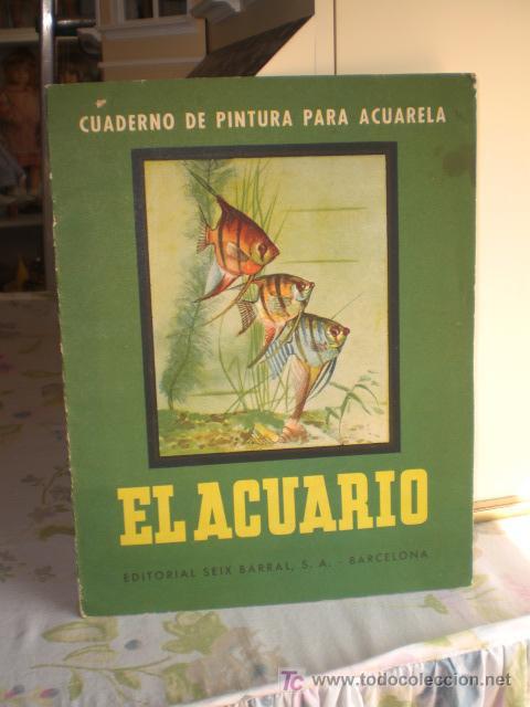 ANTIGUO CUADERNO DE PINTURA PARA ACUARELA - SEIX BARRAL (Arte - Acuarelas - Contemporáneas siglo XX)