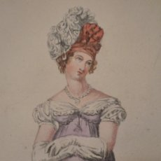 Arte: BRILLANTE RETRATO DE MUJER DE EPOCA, EXCELENTE CALIDAD, PRINCIPIO SIGLO XIX (1818), ESCUELA INGLESA . Lote 21325346
