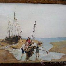 Arte: BONITA ACUARELA MOTIVO MARINA, FIRMADA ANDRÉS 1952.. Lote 26304877