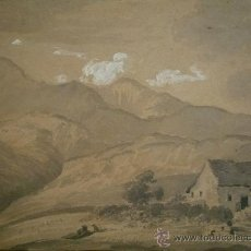 Arte: ANTIGUO Y PRECIOSO PAISAJE, FIRMADO W. MULLER,GRAN CALIDAD, CIRCA 1830.. Lote 22530438