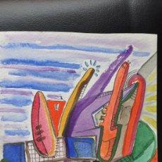 Arte: ACUARELA SOBRE PAPEL FIRMADA VALENCIA 96. Lote 23240613