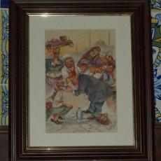 """Arte: PLUMILLA Y ACUARELA. DENTISTA EN LA PLAZA. """"CONSTANTINOPLE"""". INGLATERRA. CIRCA 1920. Lote 23515053"""