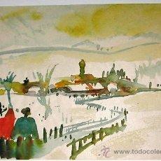 Arte: INTERESANTE ACUARELA DE HEYER - PAISAJE - FIRMADA Y DATADA. Lote 33112643