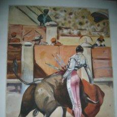 Arte: PRECIOSA ACUARELA TECNICA MIXTA, FIRMADA Y FECHADA POR JUAN RUIZ 1951. Lote 26449855