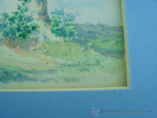 Arte: acuarela de siglo xix,firmada manuel bonell?1861 - Foto 2 - 26909195