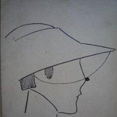 Arte: ELEGANTE Y SOFISTICADO RETRATO DE MUJER DE LOS AÑOS 20, ART DECO, FIRMADO P.P. CALIDAD. Lote 23898178