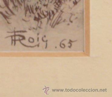 Arte: ROIG ENSEÑAT, 2 acuarelas enmarcadas. Marco: 29x38 cm. tamaño acuarelas: 14x11 cm. - Foto 2 - 24256726