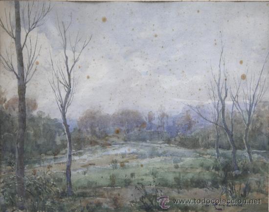 Arte: ROIG ENSEÑAT, acuarela sobre papel, 43x33 cm. marco: 68x59 cm. algunas manchas en el papel - Foto 2 - 24256009