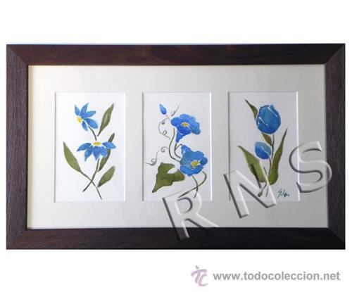 acuarelas enmarcadas de solano dibujo obra arte - Comprar Acuarelas ...