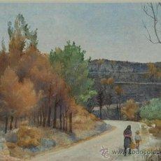 "Arte: ACUARELA. ""AFTER THE FOREST FIRE"". STUART HARWOOD 79. INGLATERRA. Lote 24577233"