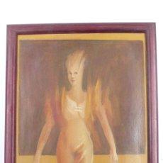 Arte: J.H. LAYUNTA, TÉCNICA MIXTA, TÉMPERA Y ACUARELA SOBRE MADERA. 20X32 CM.. Lote 24758406