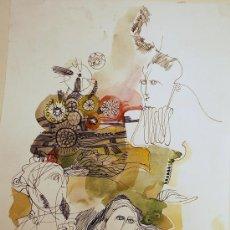 Arte: ÓSCAR ESTRUGA.ACUARELA ORIGINAL.. Lote 24959270
