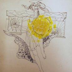 Arte: ÓSCAR ESTRUGA.ACUARELA ORIGINAL.. Lote 24959315