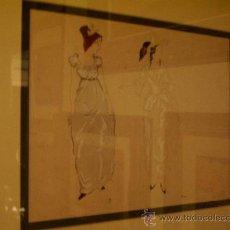 Arte: GUASCH Y ACUARELA SOBRE CARTON DE PERE PRUNA . Lote 26439627