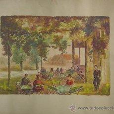 Arte: BELLA ACUARELA FIRMADA POR KRIEGSMANN, Y DATADA EN 1954. Lote 26756603