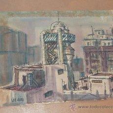 Arte: LOPEZ MOLINA. ACUARELA SOBRE CARTULINA. AÑOS 50S 60S. . Lote 26705610