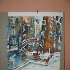 Arte: ACUARELA CANAL DE VENECIA. Lote 26700518