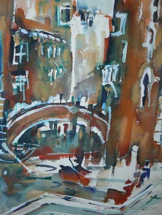 Arte: ACUARELA CANAL DE VENECIA - Foto 2 - 26700518