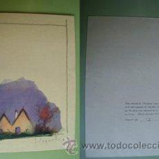 Arte: ACUARELA ORIGINAL NUMERADA Y FIRMADA POR JOSÉ SEGRELLES - CHRISTMAS. 1953. Lote 27716862