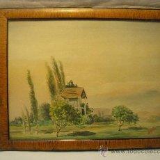 Arte: ACUARELA ANTIGUA FIRMADA M. GELLA. Lote 27962930