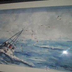 Arte: ACUARELA DE ALFREDO ROLDÁN-GRAN TAMAÑO-CON MARCO Y CRISTAL.. Lote 28246186