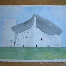 Arte: ACUARELA DE NOTRE DAME DU HAUT. Lote 28323750