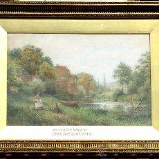 Arte: ACUARELA DE CHARLES GREGORY RWS S. XIX. Lote 28569194