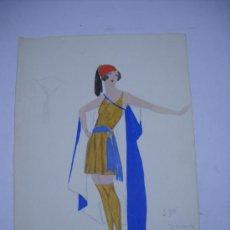Arte: DIBUJO ORIGINAL (ACUARELA) DEL PINTOR JOSE ZAMORA ALUMNO DE EDUARDO CHICHARRO, 1921 CON FIRMA.. Lote 28944231