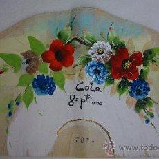 Arte: ANTIGUA ACUARELA SOBRE PAPEL PARA ABANICO. Lote 28985811